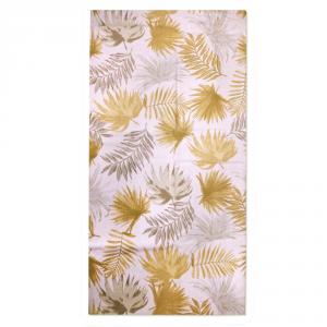 Granfoulard telo arredo copritutto FOGLIE beige 250x280 cm