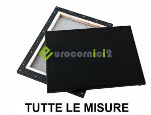 Tele Nere Gallery - Profilo 4 cm - in Misto Cotone - profilo telaio  4 cm - Tele nere gallery