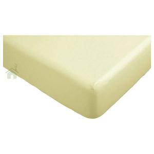 Lenzuola con angoli matrimoniali per letti grandi 190x215 cm - beige