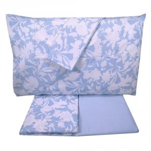 Set lenzuola matrimoniale 2 piazze SOMMA 100% percalle Tendence azzurro