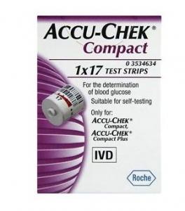ACCU - CHEK COMPACT 17 STRISCE REATTIVE PER IL CONTROLLO DELLA GLICEMIA