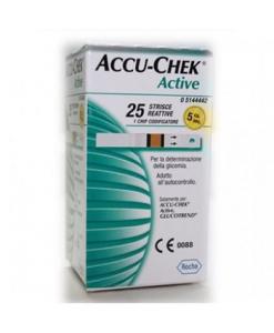 ACCU - CHEK ACTIVE 25 STRISCE REATTIVE