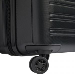 Delsey - Segur - Trolley da cabina Ryanair slim 4 ruote TSA rigido nero cod. 2038803