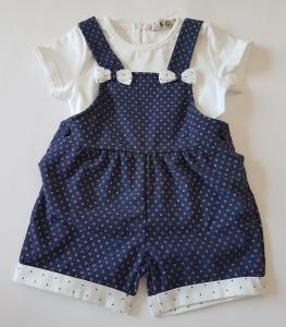 Salopette neonata 3-24 mesi blu