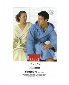 Accappatoio con cappuccio in spugna GABEL Toujours, vari colori, UNISEX