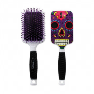 Bifull Racket Hair Brush Purple Skull