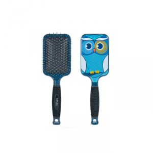 Bifull Racket Hair Brush Turquoise Owl