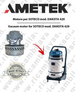 DAKOTA 429 moteurs aspiration AMETEK pour aspirateur SOTECO