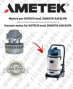 DAKOTA 429 ELPN motor de aspiración AMETEK para aspiradora SOTECO