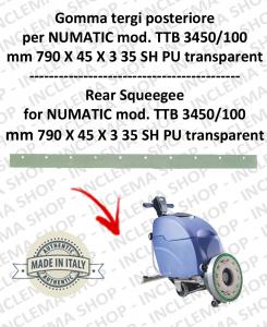 Bavette arrière pour autolaveuses NUMATIC mod. TTB 3450/100