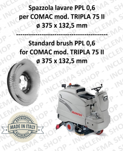 TRIPLA 75 II Standard Brosse  in PPL 0,60 Dimensions ø 375 x 132,5 pour autolaveuses COMAC