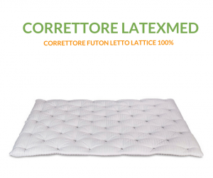 Evergreenweb - Correttore Materasso in Lattice Singolo 80x200 alto 7 cm|LATEXMED