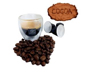 100 Capsule caffè arabica con cacao naturale compatibile nespresso senza zucchero