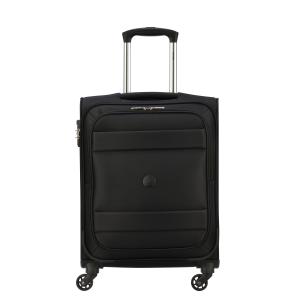 Delsey - Indiscrete - Trolley da cabina Ryanair slim 4 ruote morbido TSA nero cod. 3035803