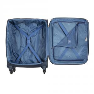 Delsey - Indiscrete - Trolley da cabina Ryanair slim 4 ruote morbido TSA blu cod. 3035803