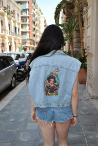 Smanicato Vintage in Jeans by LEVI'S Anni 90