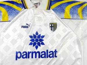 1995-96 Parma Maglia Home #2 Apolloni Match Issue (Top)
