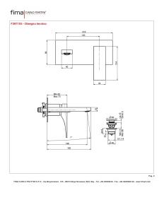 MISCELATORE LAVABO A PARETE BOCCA 144 mm