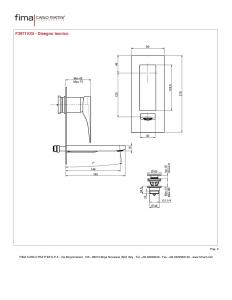 MISCELATORE LAVABO A PARETE BOCCA 144mm