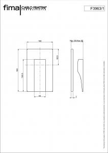 MISCELATORE INCASSO DOCCIA SERIE ZETA - F3963/1