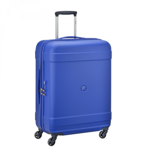 Delsey - Indiscrete - Trolley medio rigido TSA 4 ruote 66 cm blu cod. 3036811