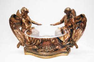 Tronetto Angeli in bronzo e plexiglass