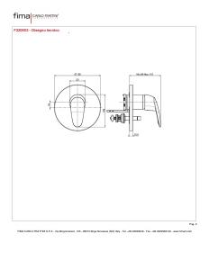 MISCELATORE INCASSO CON DEVIATORE A 2 USCITE SERIE 2 - F3209X2