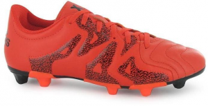 Scarpa calcio X 15.3 FG/AG Leather Arancione/Nero
