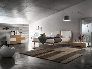 Camera stile nordico bianco e rovere