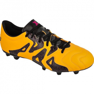 Scarpa calcio X 15.3 FG/AG Leather Mandarino/Nero/Purple