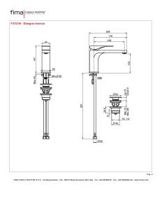 MISCELATORE LAVABO SERIE QUAD - F3721M