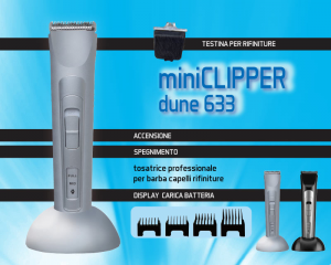 Dune 90 - Mini Clipper Dune 633  - Tagliacapelli e Barba professionale
