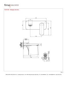 MISCELATORE LAVABO A PARETE BOCCA 148 mm SERIE QUAD
