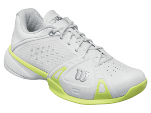 Scarpa tennis WILSON RUSH CC W Bianco/Verde lime