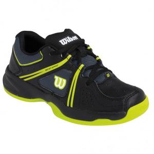 Scarpa tennis WILSON ENVY JR Nero/lime