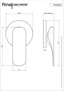 MISCELATORE INCASSO DOCCIA SERIE QUAD - F3723/1