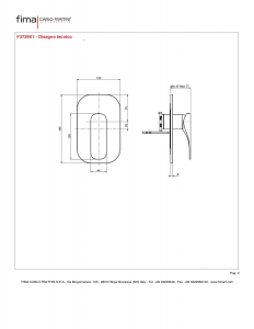 MISCELATORE INCASSO DOCCIA SERIE QUAD - F3729X1