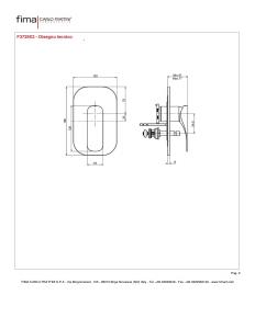 MISCELATORE INCASSO CON DEVIATORE A 2 USCITE SERIE QUAD - F3729X2