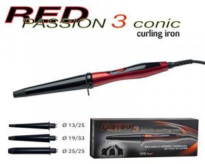 Dune 90 - Red Passion 3 - Ferro conico in Ceramica Tormalina per creare ricci perfetti