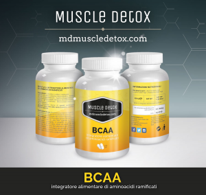 SCORTA 10 pezzi BCAA Aminoacidi Ramificati 2:1:1 - Linea Muscle Detox
