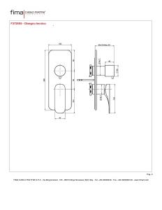 MISCELATORE INCASSO CON DEVIATORE A 2 O 3 USCITE SERIE QUAD - F3729X6