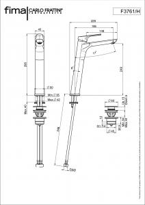 MISCELATORE LAVABO SERIE 4 - F3761/H