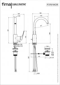 MISCELATORE LAVABO SERIE 4 - F3781W