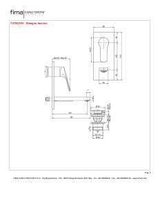 MISCELATORE LAVABO A PARETE BOCCA 153 mm SERIE 4 - F3760VX5
