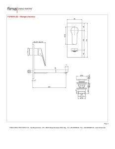MISCELATORE LAVABO A PARETE BOCCA 203 mm SERIE 4 - F3760VLX5