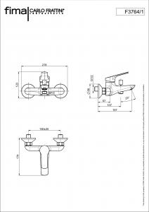 MISCELATORE VASCA ESTERNO SENZA SET DOCCIA SERIE 4 - F3764/1