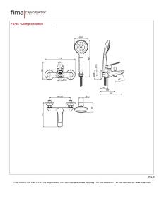 MISCELATORE VASCA ESTERNO CON SET DOCCIA SERIE 4 - F3764