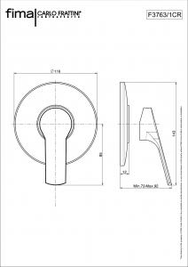 MISCELATORE INCASSO DOCCIA SERIE 4 - F3763/1