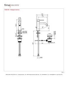 MISCELATORE LAVABO XS - SERIE SPILLO UP F3031XS