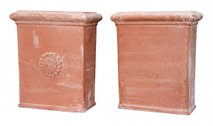 Pilone In Terracotta liscio e a rosetta